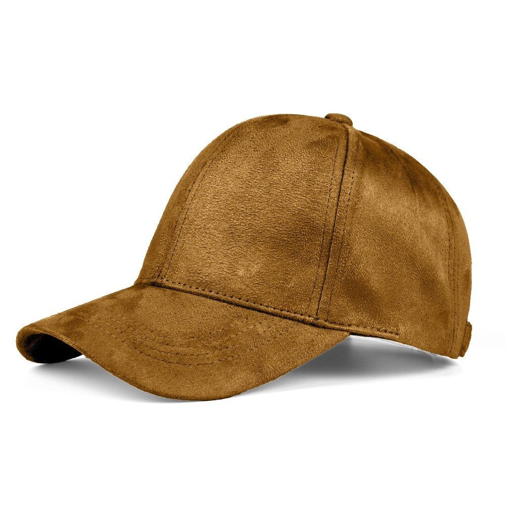 Suede Baseball Cap | Light Brown