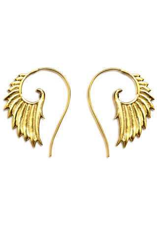 Bohemian gold handmade spiral earrings accessory fashion sale - Aanya Hong Kong
