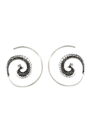 Bohemian handmade spiral earrings accessory fashion sale - Aanya Hong Kong