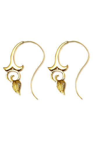 Peacock Spiral Earrings | Silver - Big