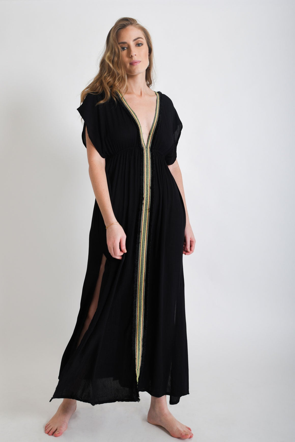 Shop Women's Black Maxi Dress| Aanya