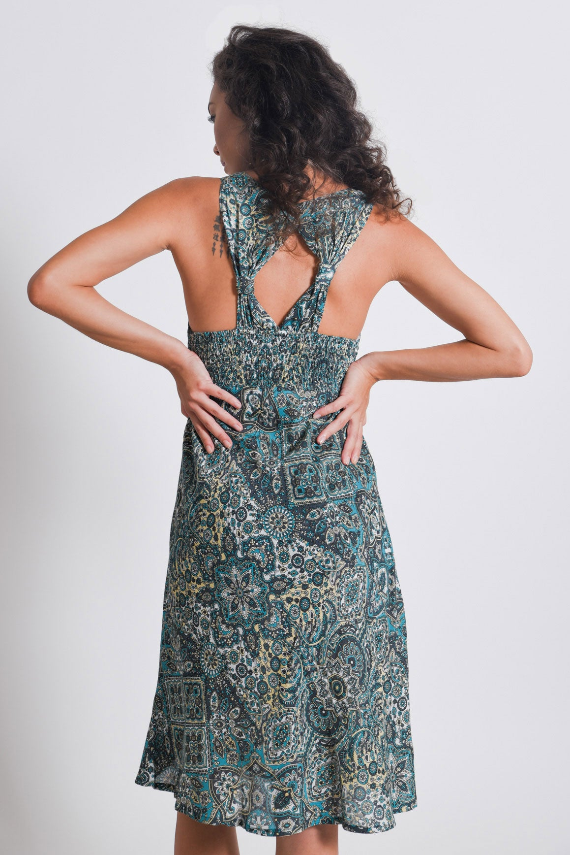Shop Green Mandala Midi Dress | Aanya
