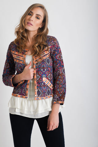 Rani Block Printed Jackets | White