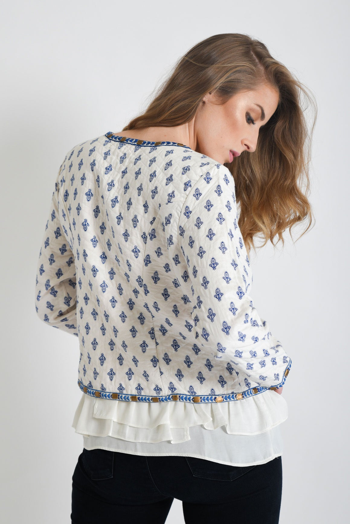 Shop White Embroidered Jacket | Aanya