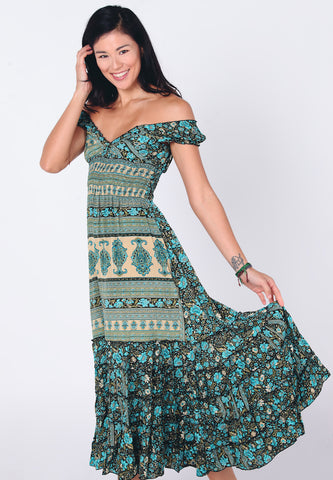 Ona Maxi Dress | Ikat Blue