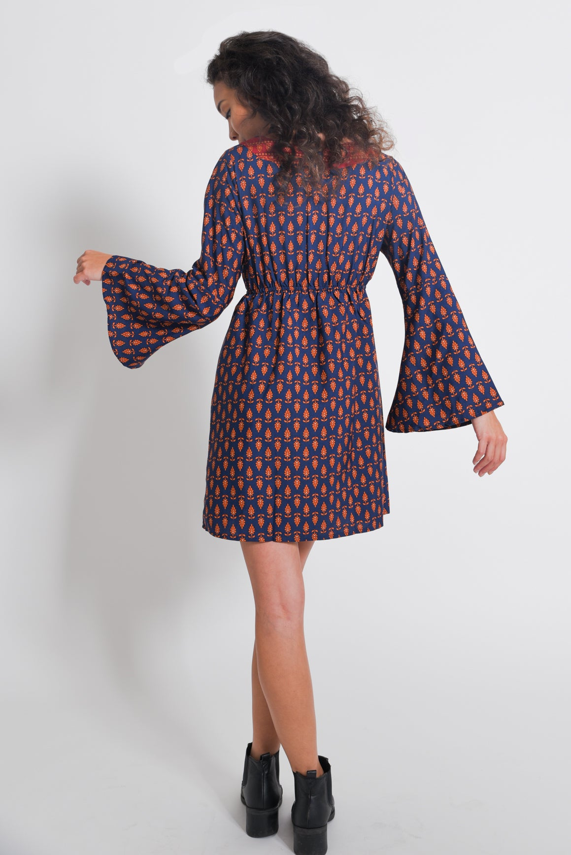 Enchanted Bell-Sleeve Dress