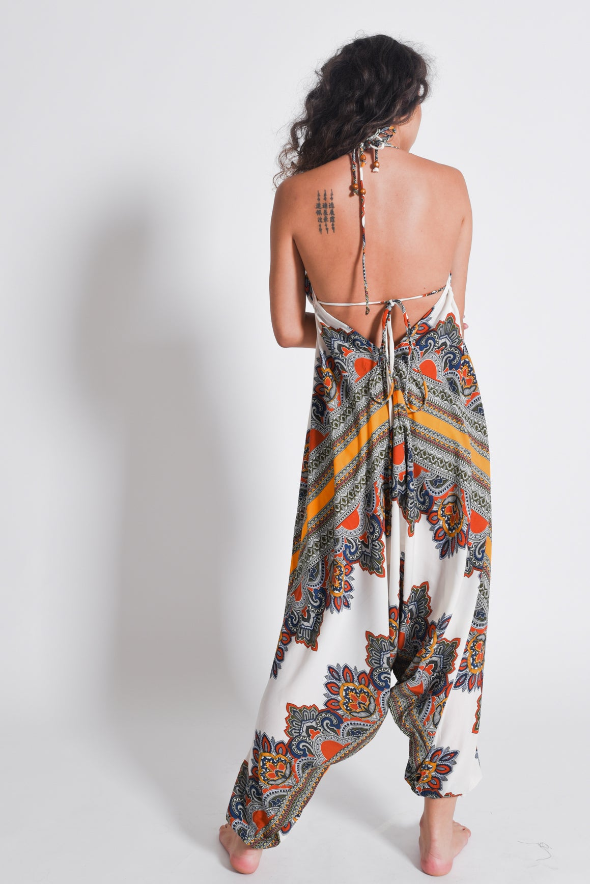Elana Tribal Jumpsuit | Yellow