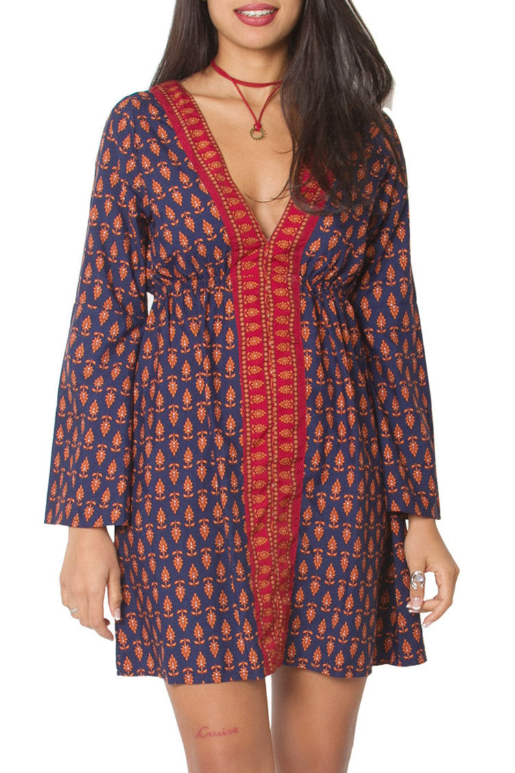 Boho Indian printed short dress Aanya