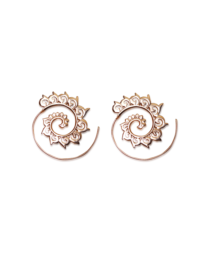 Shop Rose Gold Dragon's Back Loop Earring