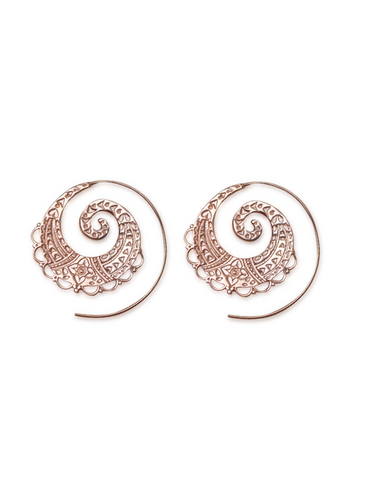 Ethnic Indian Spiral Earrings Handmade Aanya