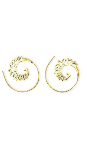 Shop Gold Flame Spiral Earring