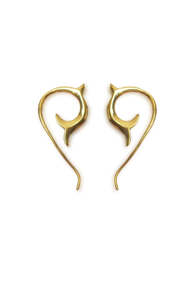 Handmade Grassroot Spiral Earrings Gold | Aanya