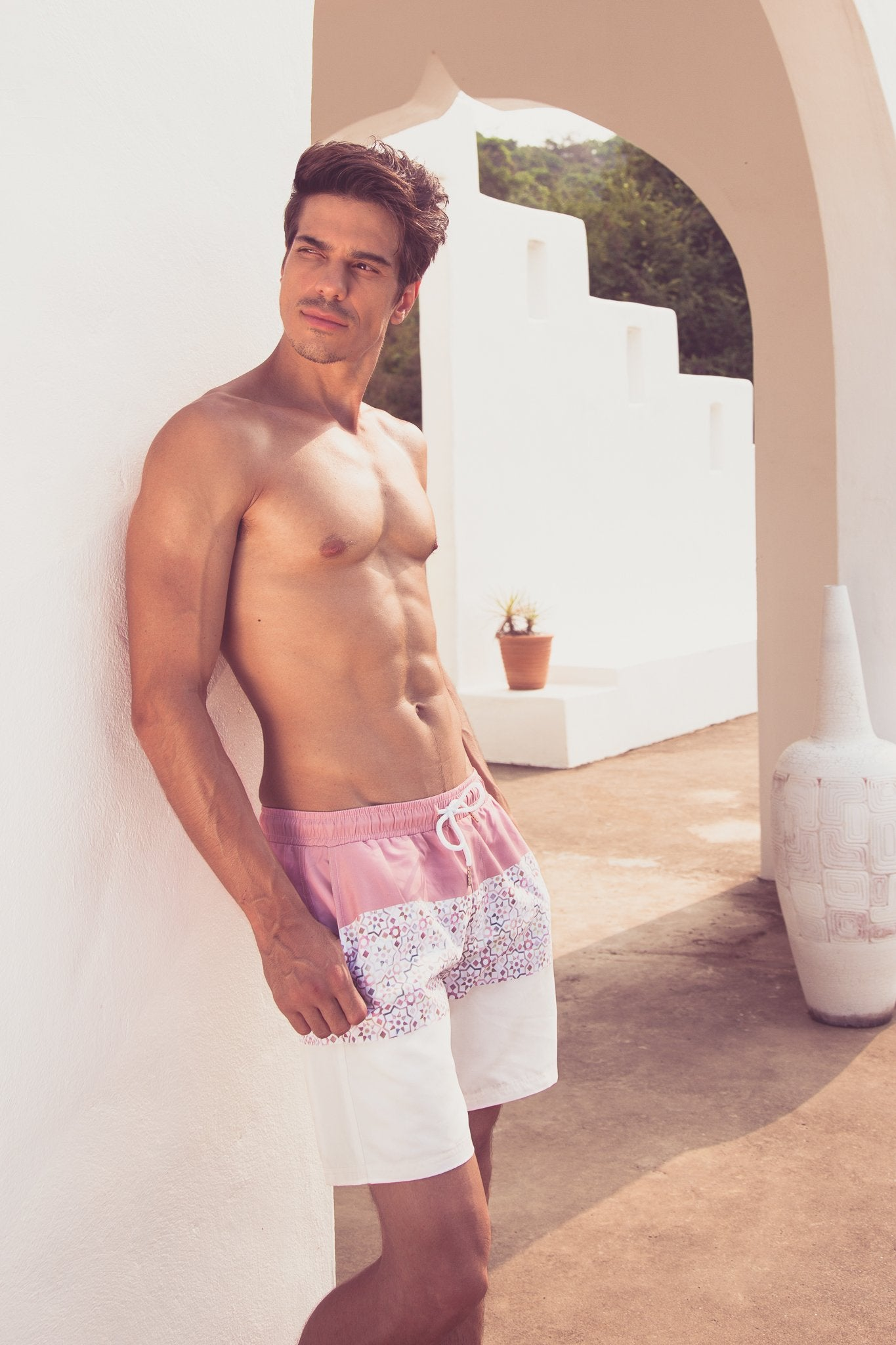 Mashrabiya Swim Trunks - Trunks by Mer Culture Swimwear Hong Kong