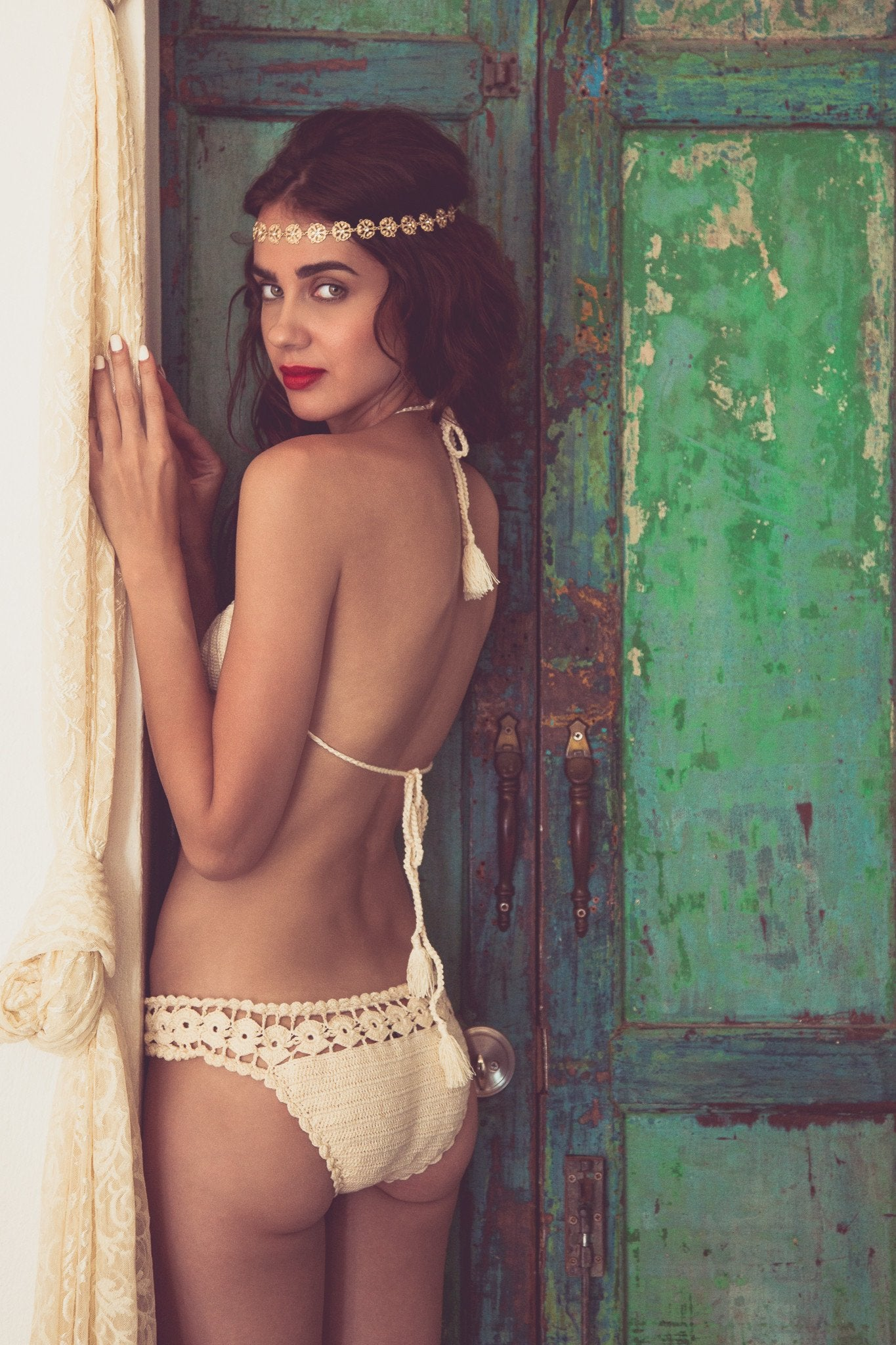 Geometry Crochet Bottom | Casablanca - Bikini Bottom by Mer Culture Swimwear Hong Kong