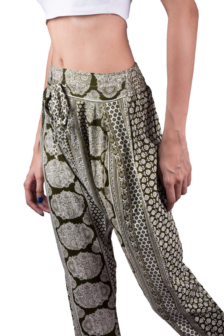 Shop Women's Green Printed Women Jogger Pants | Aanya