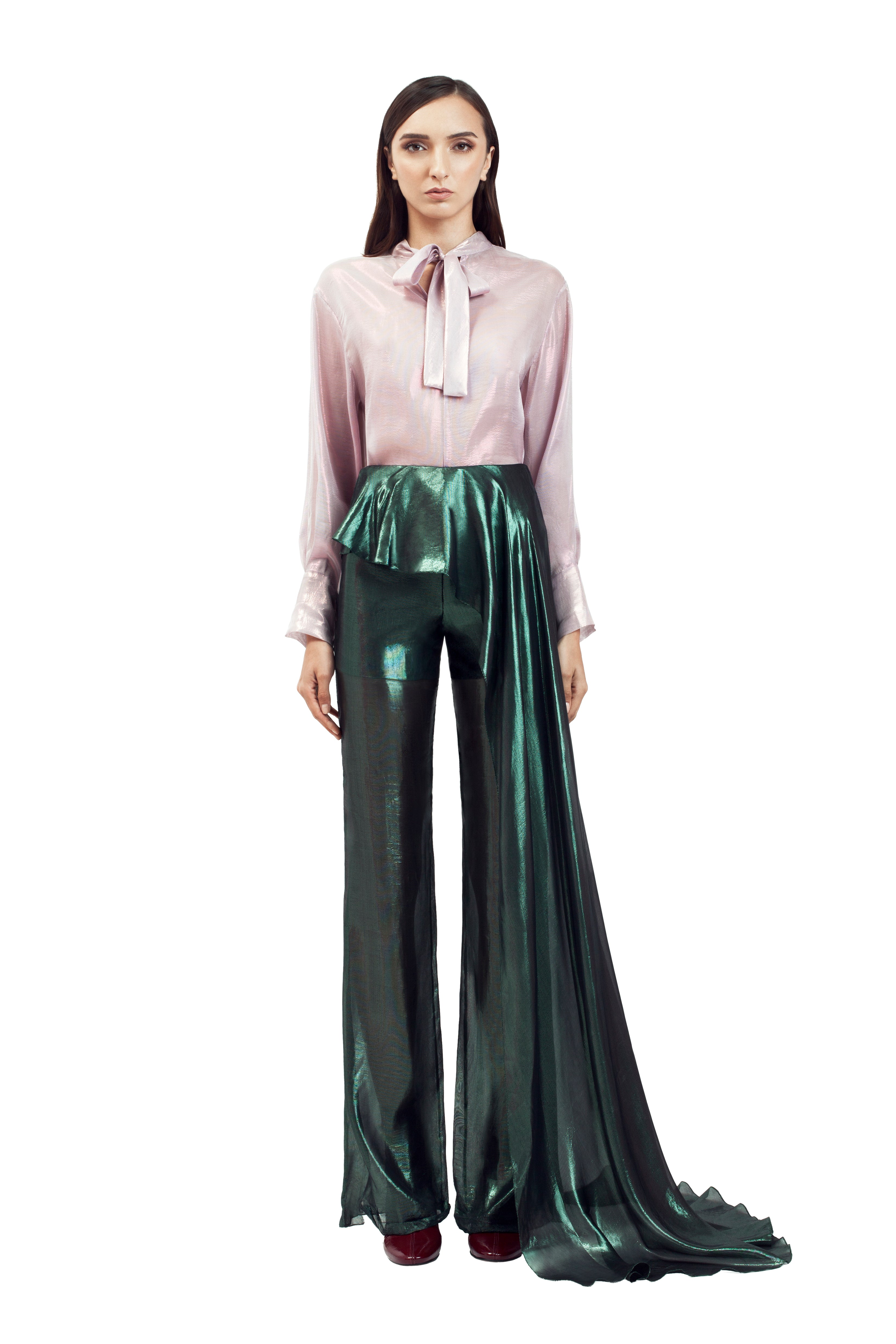 FRILLED FLARE PANTS