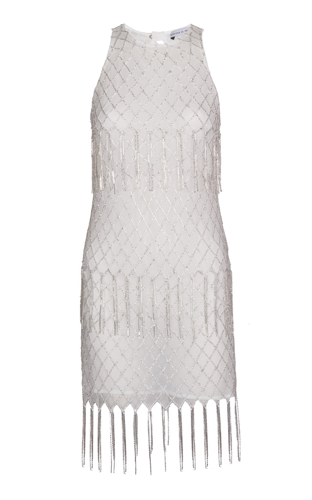 CRYSTAL DETAIL MINI DRESS