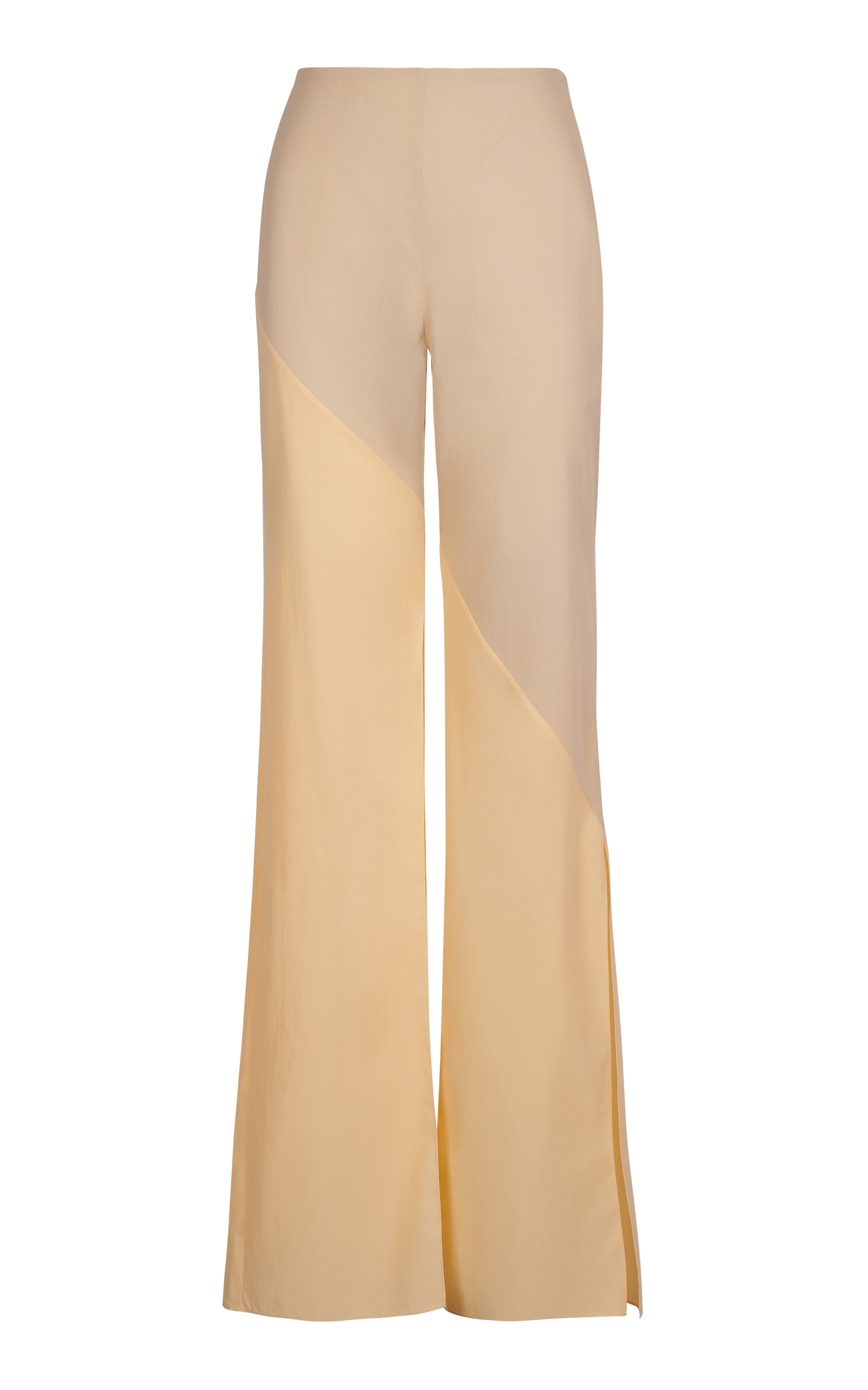 CONTRAST PANEL CUT OUT FLARE PANTS