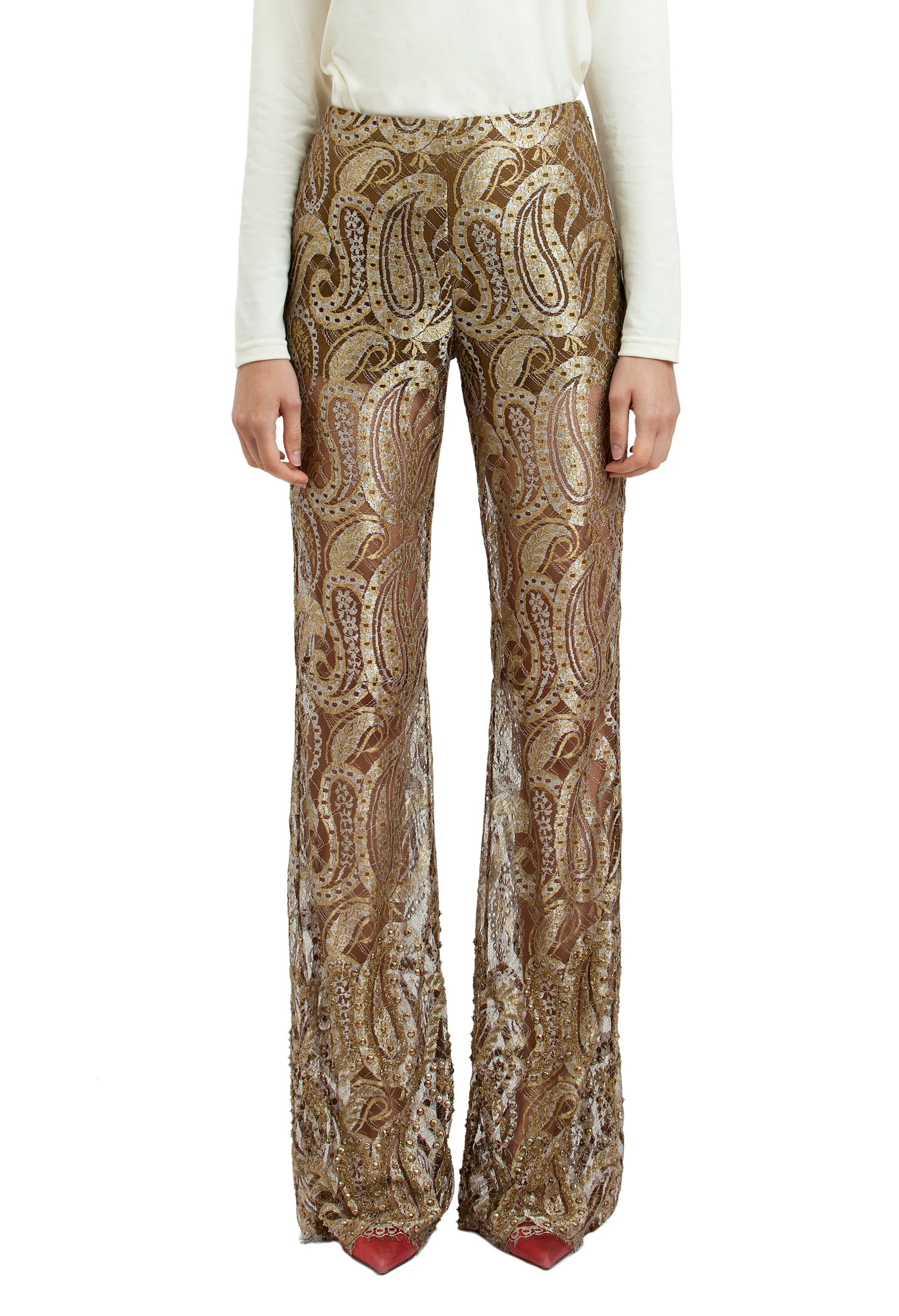 PAISLEY LACE PANTS