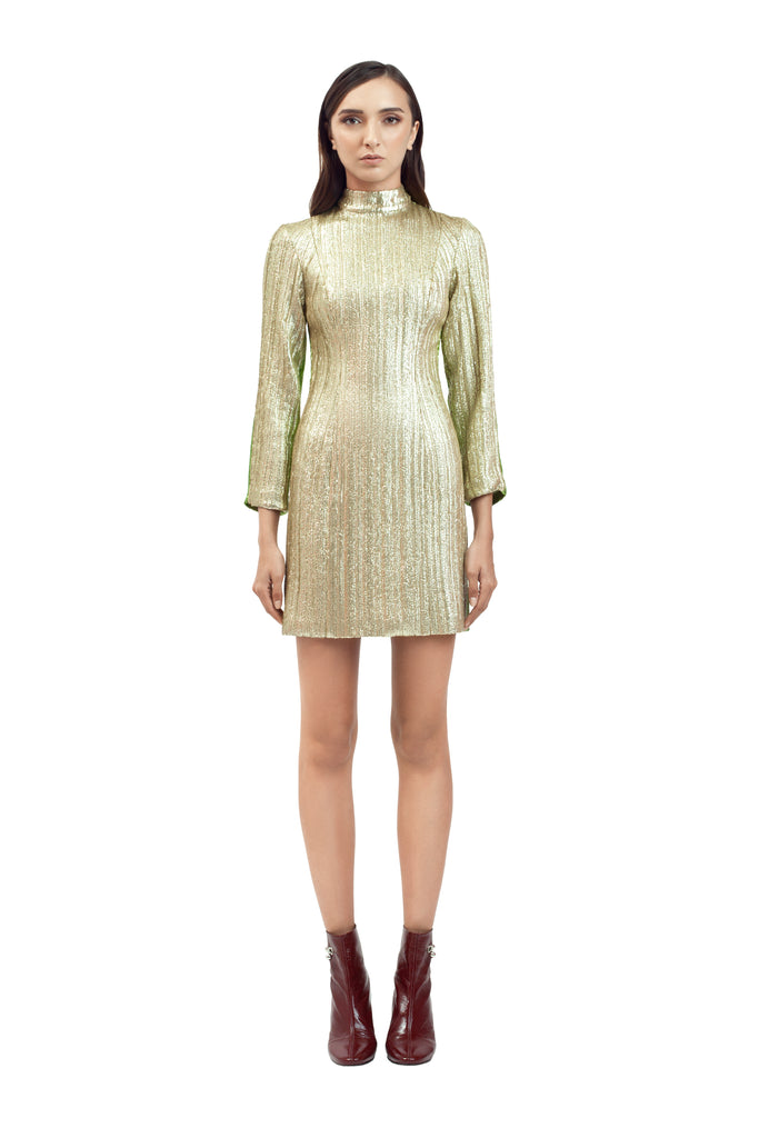 TWO-TONE SEQUIN MINI DRESS