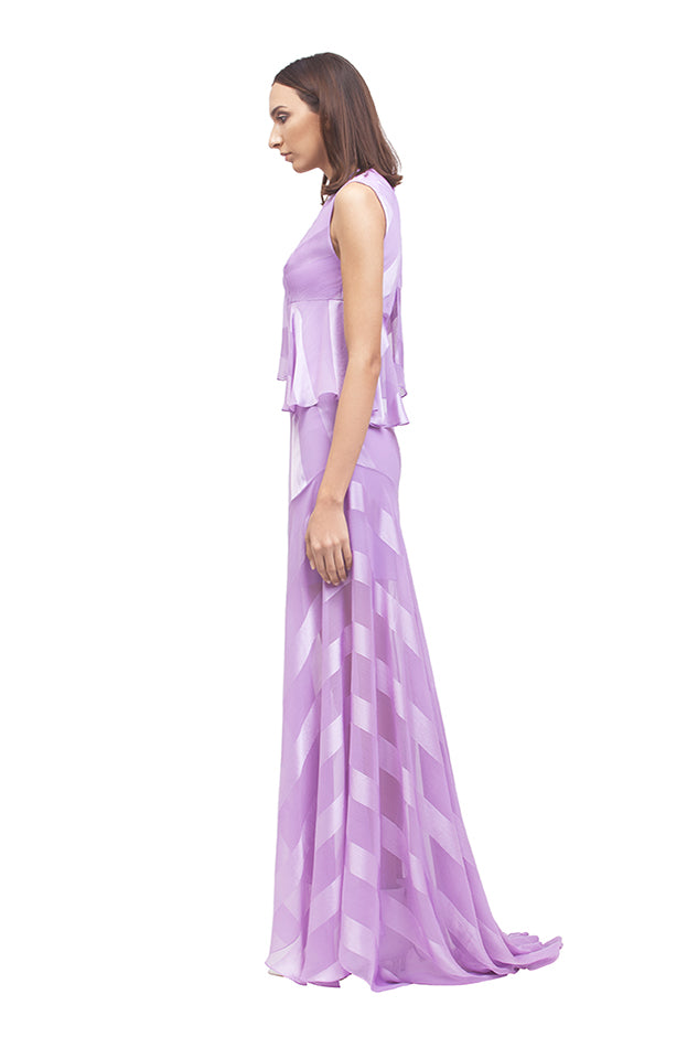 FRILL MAXI GOWN
