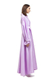 PURPLE SILK A LINE TRENCH COAT