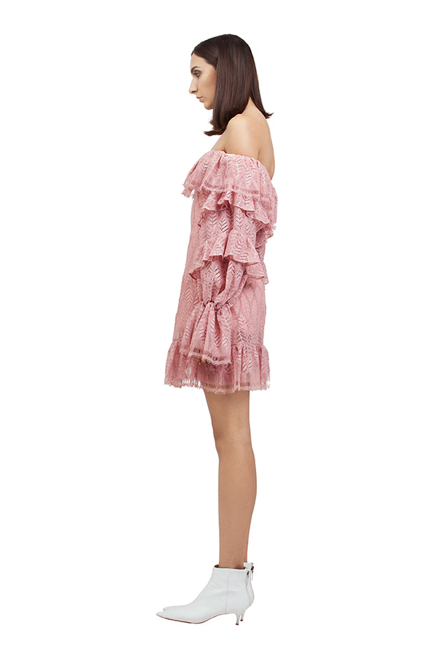 PINK BARDOT DRESS