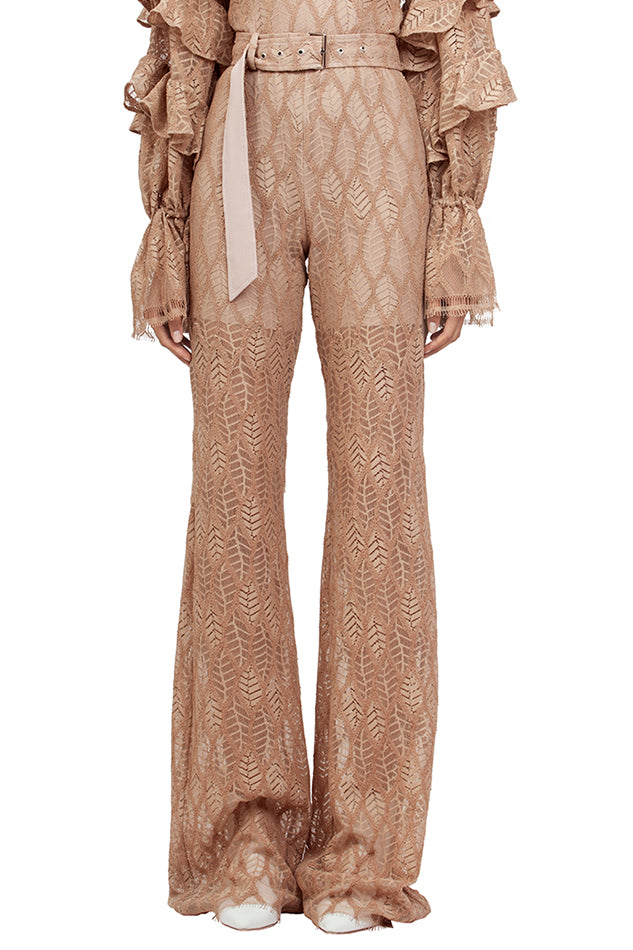 NUDE LACE PANTS