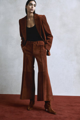 the-erica-coat-in-cocoa-suede,the-andrea-pant-in-cocoa-suede