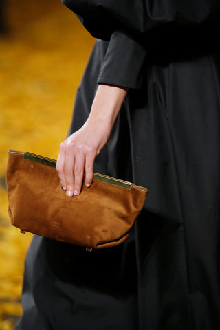 Envelope-Pleat-Clutch-in-Caramel-Suede