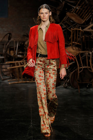 the-gracie-jacket-in-deep-rose-suede,the-stockard-pant-in-red-floral,the-envelope-pleat-frame-crossbody-bag-in-deep-rose-suede