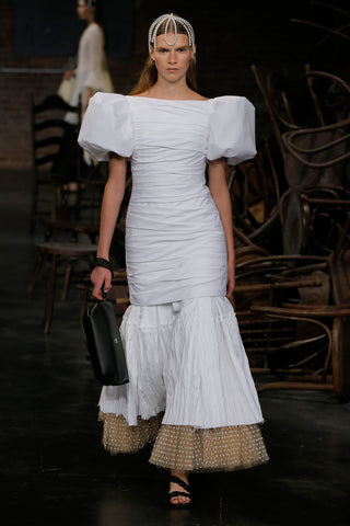 the-shelly-dress-in-white,the-alma-wristlet-in-black-leather