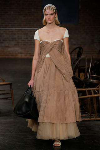 the-ista-top-in-ivory,large-envelope-pleat-tote-in-black-leather,the-torrance-sandal-in-cream-leather