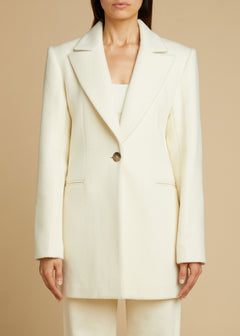 The Allison Jacket in Cream