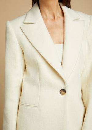 The Allison Coat in Cream