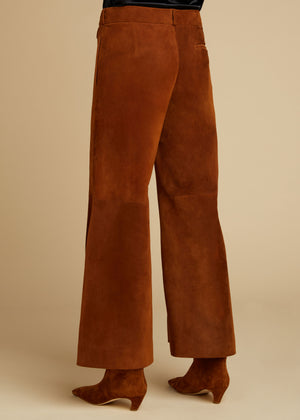 The Andrea Pant in Cocoa Suede
