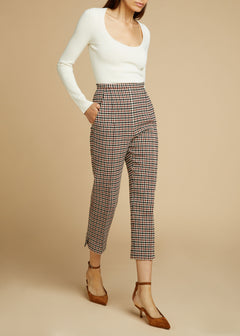 The Bridget Pant in Red Check