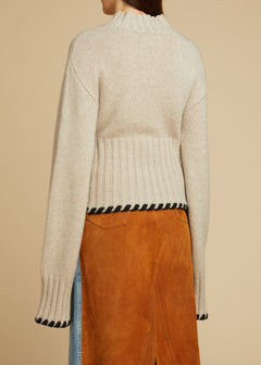 The Colette Sweater in Powder