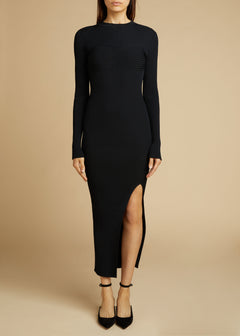 The Evlynne Dress in Black