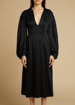 The Farrely Dress in Black