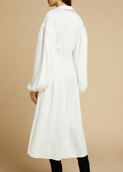 The Farrely Dress in Ivory