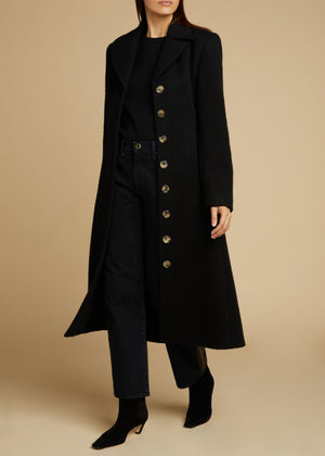 The Georgina Coat in Black