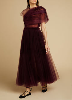 The Gigi Dress in Bordeaux