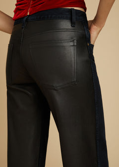 The Kerrie Jean in Black Leather Combo