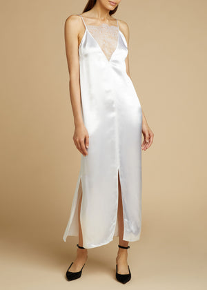 The Leandra Dress in White
