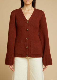 The Lucy Cardigan in Mahogany