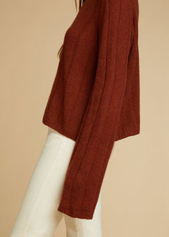The Nelley Sweater in Mahogany