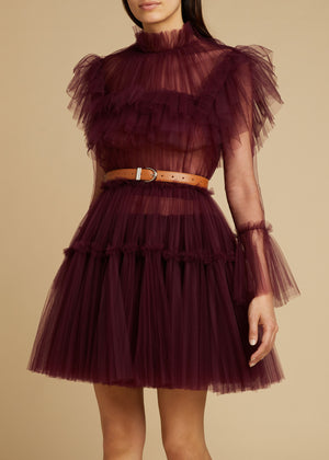 The Paula Dress in Bordeaux