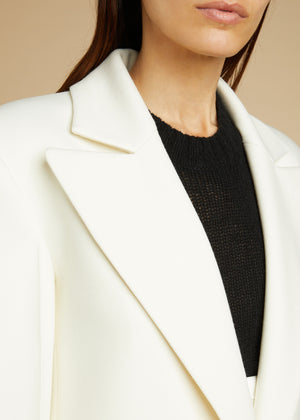 The Rania Overcoat in Ivory