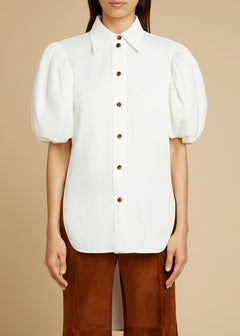 The Roberta Top in Ivory